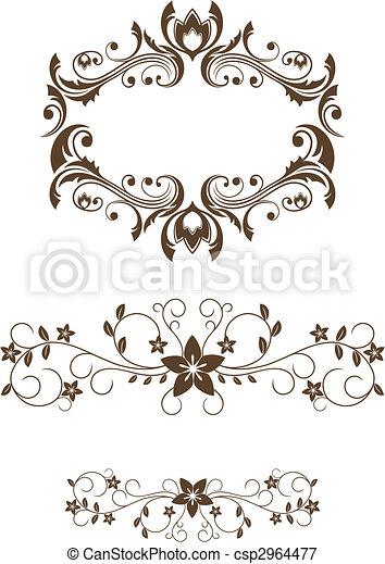 植物, 葡萄酒, 裝飾 - csp2964477