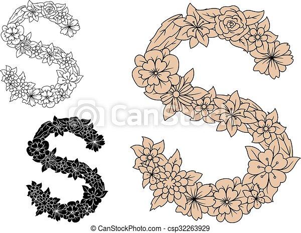 植物, 葡萄酒, s, 主題, 信 - csp32263929