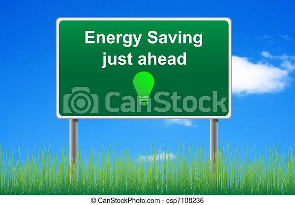 概念, 能量, 天空, 保留, 簽署, 背景。, 路 - csp7108236
