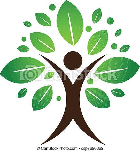 樹, 人類 - csp7696369