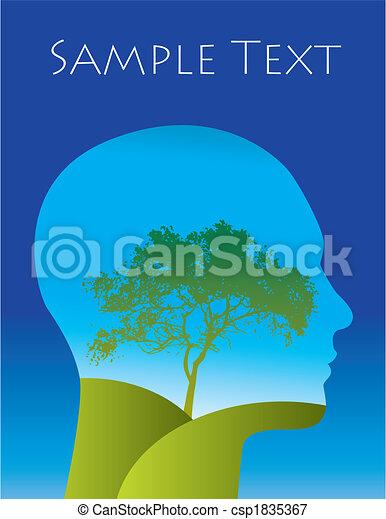 樹, 人 - csp1835367