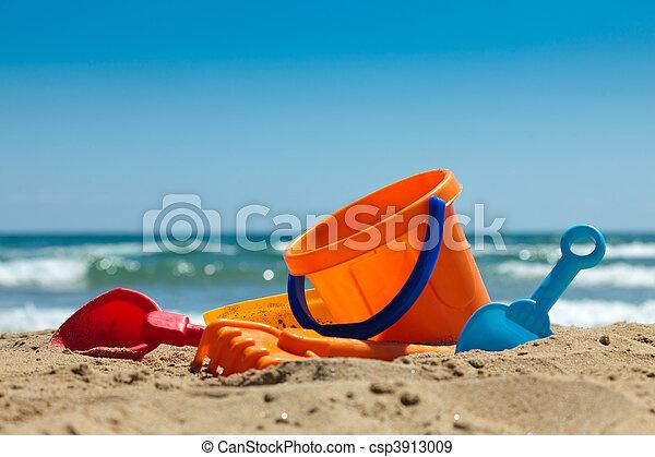 海灘玩具, 塑料 - csp3913009
