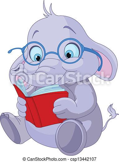 漂亮, 教育, 大象 - csp13442107