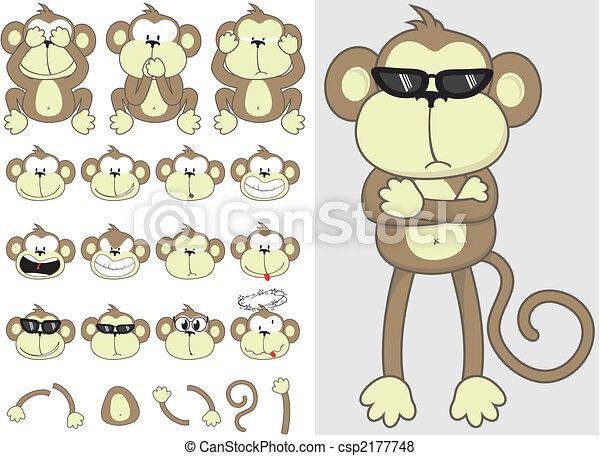 漂亮, 集合, 猴子 - csp2177748