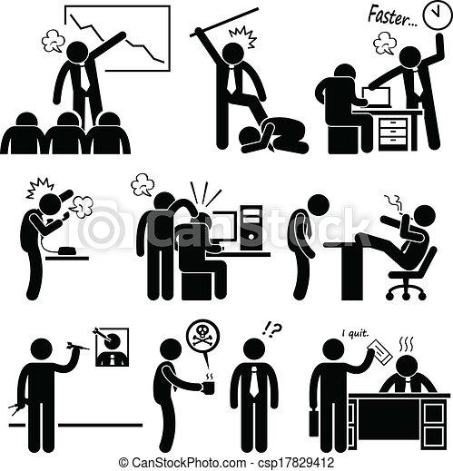 濫用, 雇員, 憤怒, 老板 - csp17829412