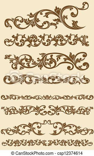 爪哇語, 葡萄酒, 裝飾品, 植物 - csp12374614