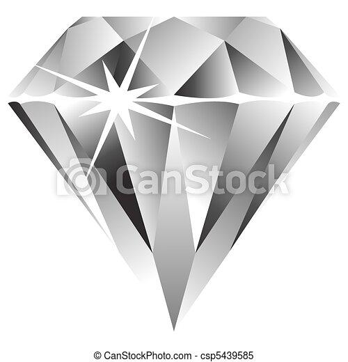 白色, 鑽石, 針對 - csp5439585