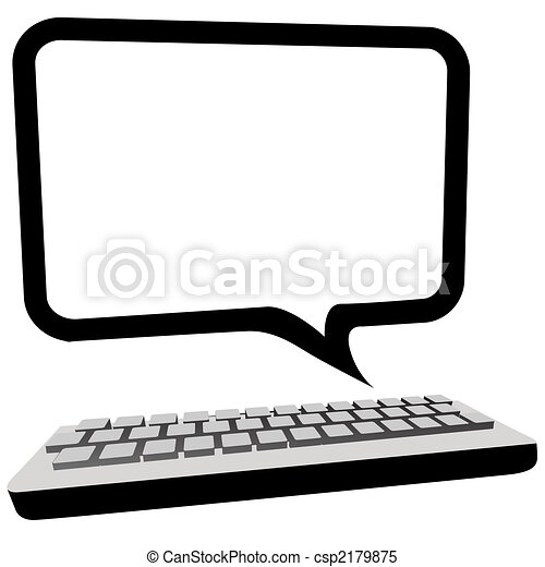 監控, copyspace, 通訊, 電腦, 演說泡 - csp2179875