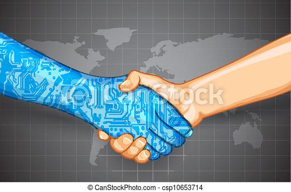 相互作用, 技術, 人類 - csp10653714