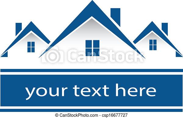 真正, 房子, 標識語, 財產 - csp16677727