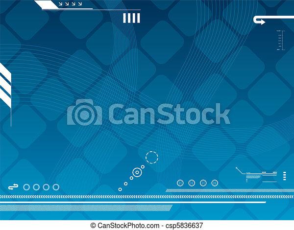 矢量, 技術, 背景 - csp5836637