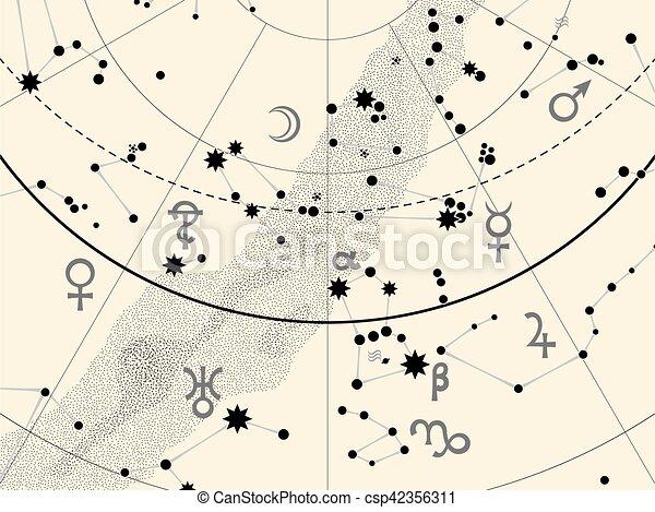 碎片, 地圖集, 天文學, 天上 - csp42356311