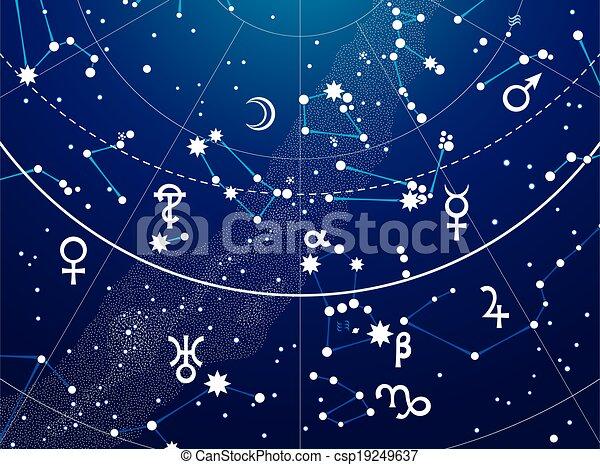 碎片, 地圖集, 天文學, 天上 - csp19249637