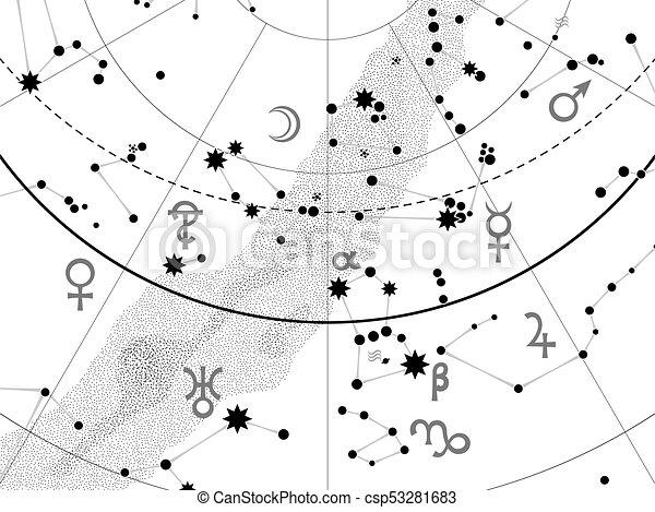 碎片, 地圖集, 天文學, 天上 - csp53281683
