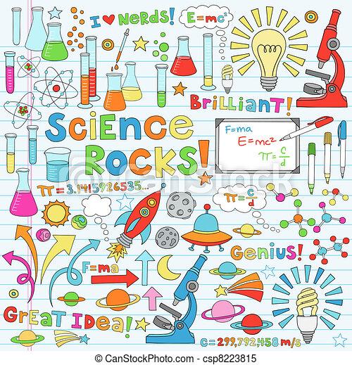 科學, 矢量, 插圖, doodles - csp8223815