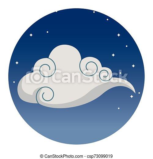 符號, 充分, 被隔离, 月亮, 卡通 - csp73099019