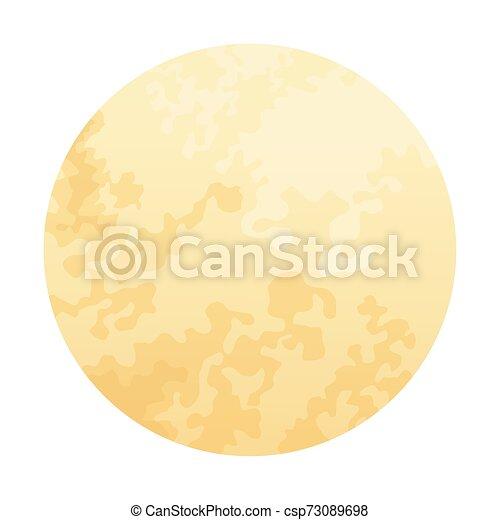 符號, 充分, 被隔离, 月亮, 卡通 - csp73089698