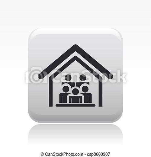 組, 人們, 一起, 活, 矢量, 插圖 - csp8600307