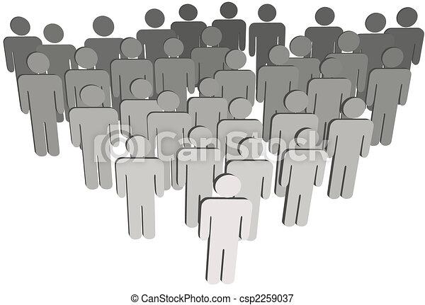 組, 人們, 公司, 或者, 白色, 3d, 符號, 人口 - csp2259037