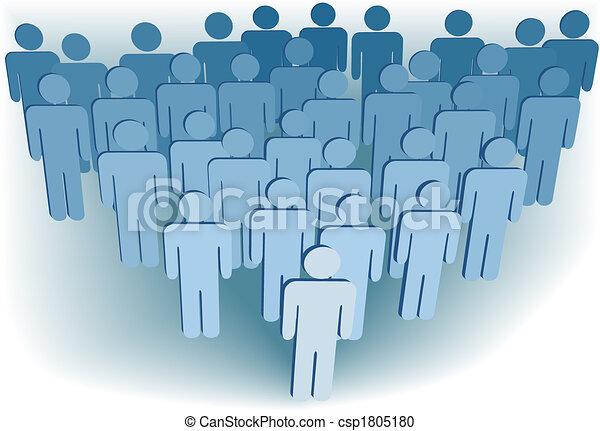組, 人們, 公司, 或者, 集合, 人口, 符號, 3d - csp1805180
