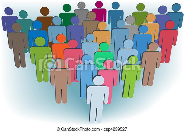 組, 人們, 符號, 顏色, 公司, 或者, 人口 - csp4239527