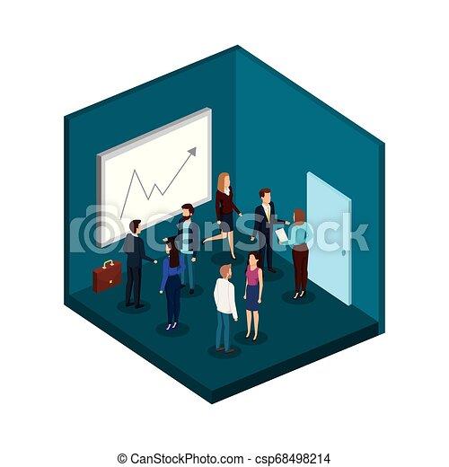 組, 商業辦公室, 人們 - csp68498214