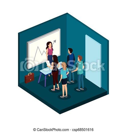 組, 商業辦公室, 人們 - csp68501616