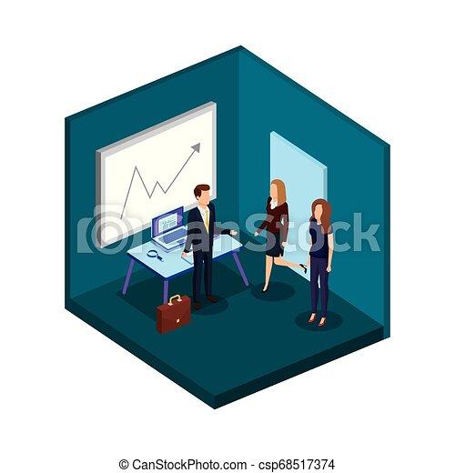 組, 商業辦公室, 人們 - csp68517374