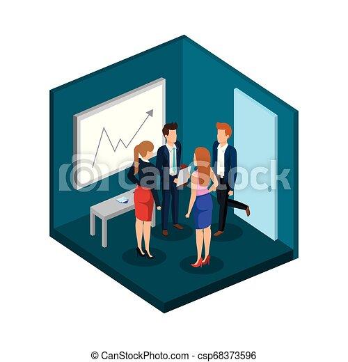 組, 商業辦公室, 人們 - csp68373596