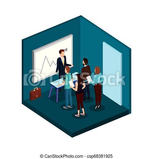 組, 商業辦公室, 人們 - csp68381925