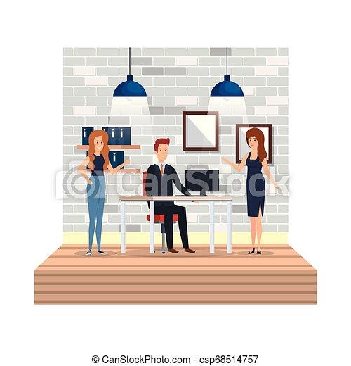 組, 商業辦公室, 人們 - csp68514757