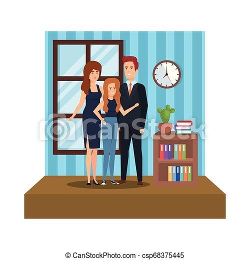 組, 商業辦公室, 人們 - csp68375445
