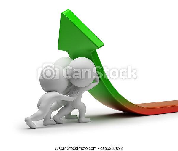 統計數字, 人們, -, 改進, 小, 3d - csp5287092
