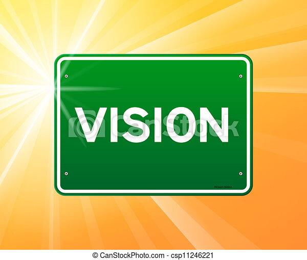 綠色, 視覺, 簽署 - csp11246221