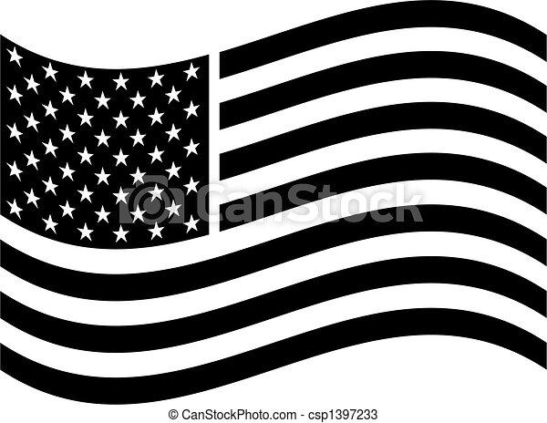 美國人, 藝術, 旗, 夾子 - csp1397233