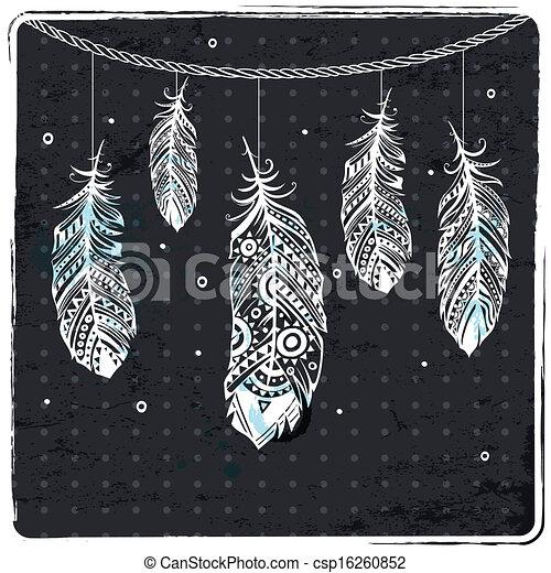 羽毛, 時裝, 插圖, 种族 - csp16260852