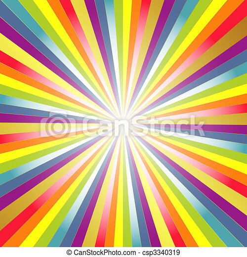 背景, 彩虹, 光線 - csp3340319