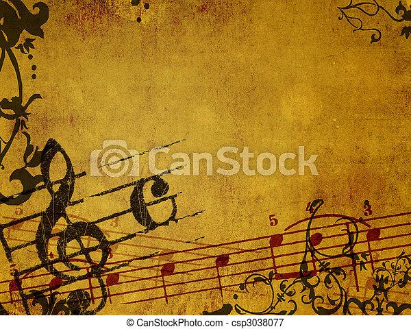 背景, grunge, 摘要, 質地, 悅耳的音調 - csp3038077