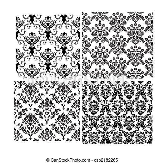 背景, seamless, 緞子, 集合 - csp2182265