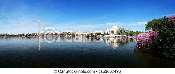 華盛頓, 地平線, dc, 全景 - csp3667496