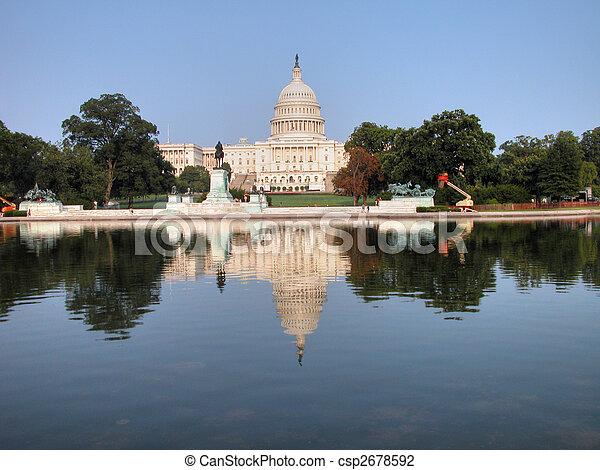 華盛頓, 小山, 州議會大廈, dc - csp2678592
