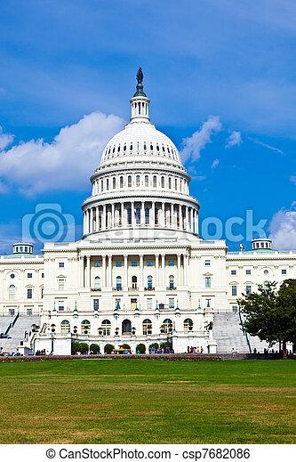 華盛頓, 我們, dc, 州議會大廈 - csp7682086