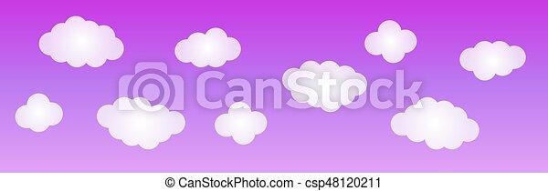 藍色的背景, sky. - csp48120211