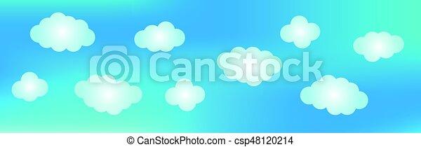 藍色的背景, sky. - csp48120214
