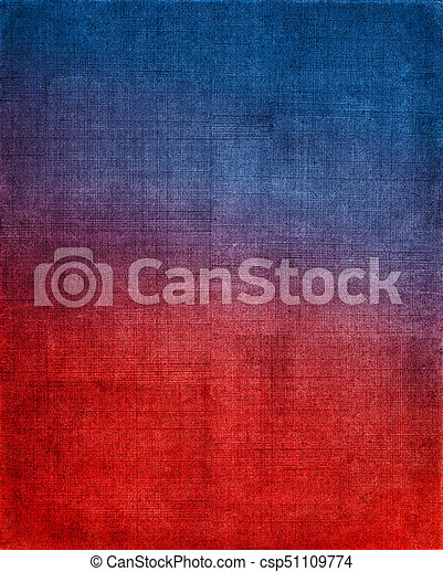 藍色, 布, 紅的背景 - csp51109774