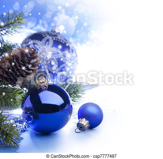 藝術, 圣誕節卡片, 問候 - csp7777497