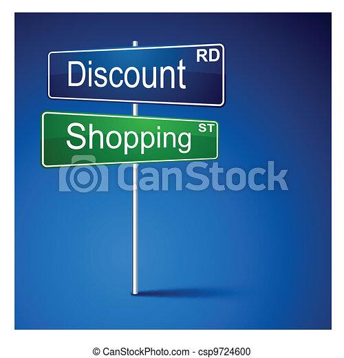 購物, 路, 折扣, 方向, 徵候。 - csp9724600