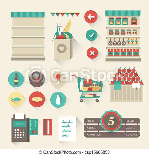 超級市場, 圖象 - csp15685853