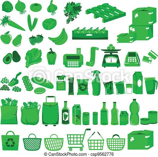 超級市場, 圖象 - csp9562776