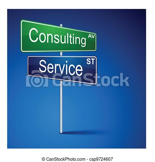 路, 服務, 方向, 徵候。, 咨詢 - csp9724607